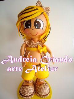Atelier Criando arte com Andréia: boneca fofucha gravida personalizada