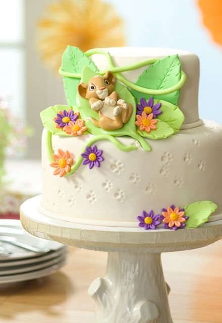 This Lion King Baby Simba baby shower cake idea is purr-fect!