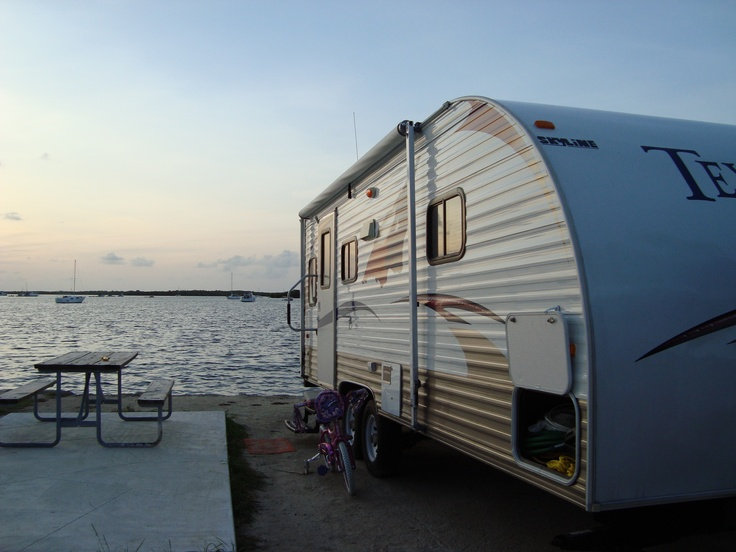 Our Camping Trailer Parked In Key West Right Next To The Ocean
