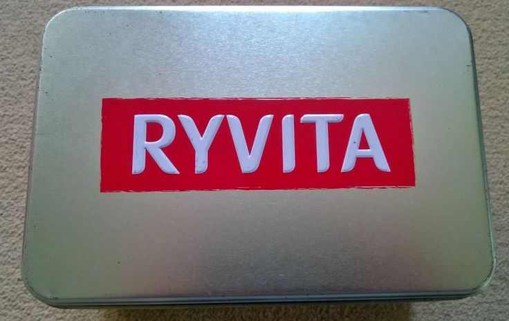 Ryvita Silver Coloured Storage Tin