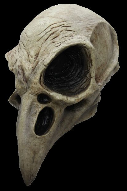 """Crow Skull Mask mask $45.  Ok, now THIS is scary!  Edgar Allan Poe & Alfred Hitchcock black & white """"Beware the Birds!"""" Halloween party."""