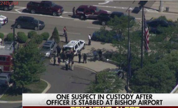 Aeroporto dos EUA é evacuado após agente ser ferido