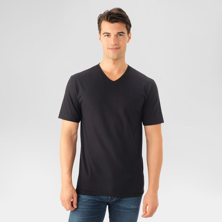 Fruit of the Loom Men's T-Shirt - Black L, new