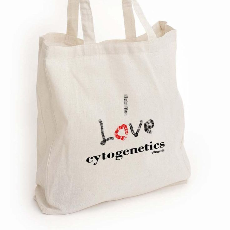 I love cytogenetics canvas tote, chromosomes med lab tech gift