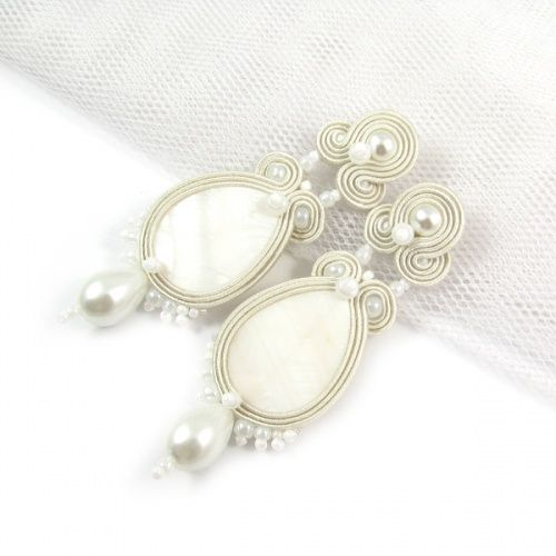 www.pillowdesign.pl #weddingdressjewelry #bridal jewelry #bridal earrings