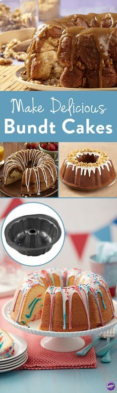 Make Delicious Bundt Cakes - Bake delicious bundt cakes using the Wilton Fluted Tube Pan.  Its reinforced coating on durable steel makes food release and cleanup exceptionally easy. Perfect to use when baking monkey bread and different flavors of bundt cakes.