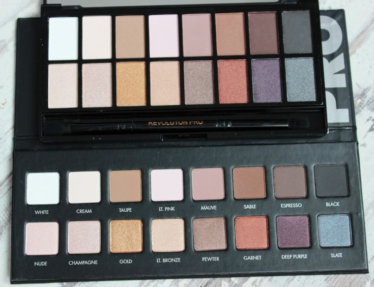 Lorac Pro palette and Makeup Revolution Iconic Pro 1 palette dupe comparison
