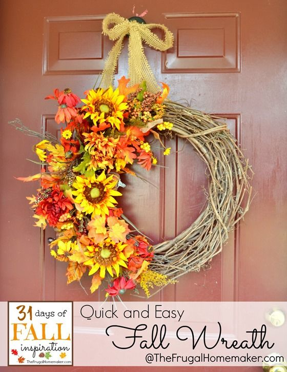 fall wreath ideas best 25 easy fall wreaths ideas on diy fall 31640