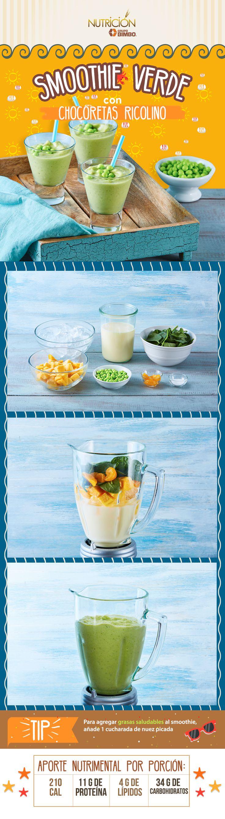 Disfruta y comparte esta deliciosa receta de Smoothie de Chocoretas Ricolino.