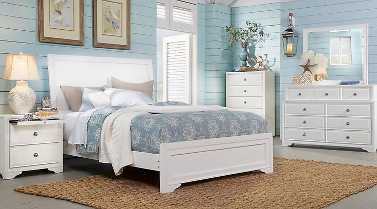 picture of Belcourt White 5 Pc King Sleigh Bedroom from  Furniture