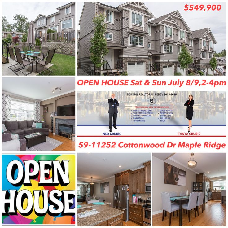 ⭐️⭐️⭐️⭐️⭐️Welcome to Our OPEN HOUSE Sat & Sun July 8/9, 2-4pm @ 59-11252 Cottonwood Dr Maple Ridge 🔥🔥🔥https://youtu.be/77hT3PRgmis 🌟