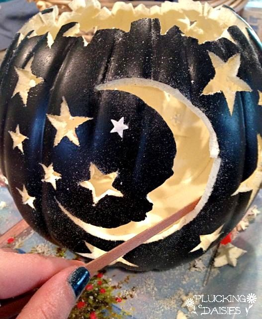 Moon and Stars Pumpkin Tutorial with Carving and Lighting ...