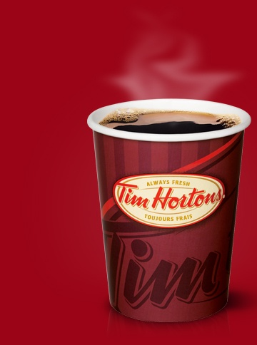 """""""Always Tim Hortons""""... Canada's answer to Starbucks"""