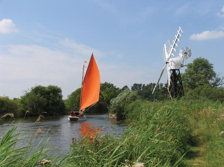 Norfolk_Broads Think Dinah Slade in The Rich are Different by Susan Howatch....