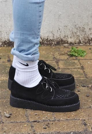 Black Mens suedette Creepers £35.00
