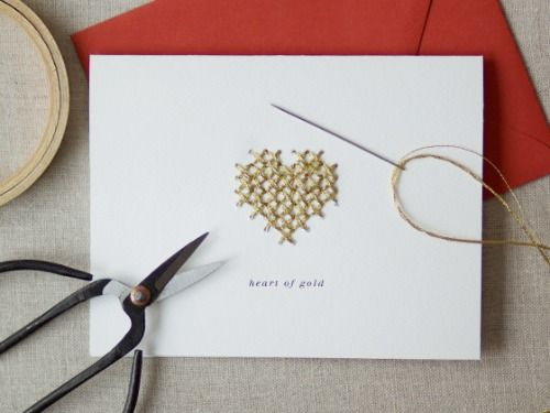 Even novice stitchers can recreate this minimalist beauty — but the effect is impressive nonetheless.