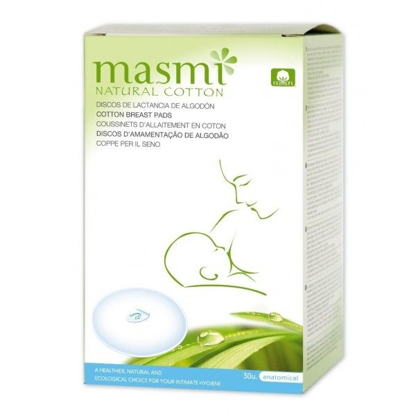 "Discos de Lactancia de Algodón Orgánico, ""MASMI"""