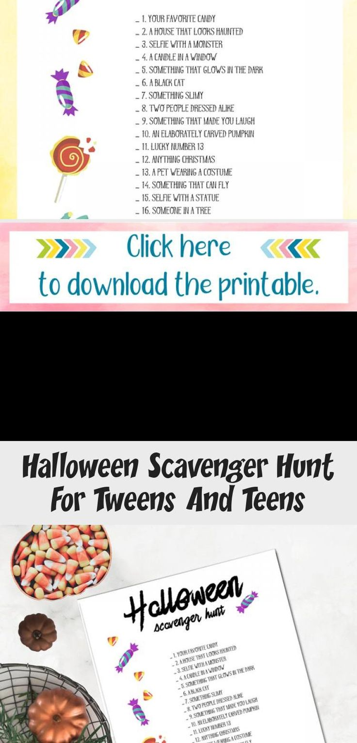 Halloween Scavenger Hunt For Tweens And Teens