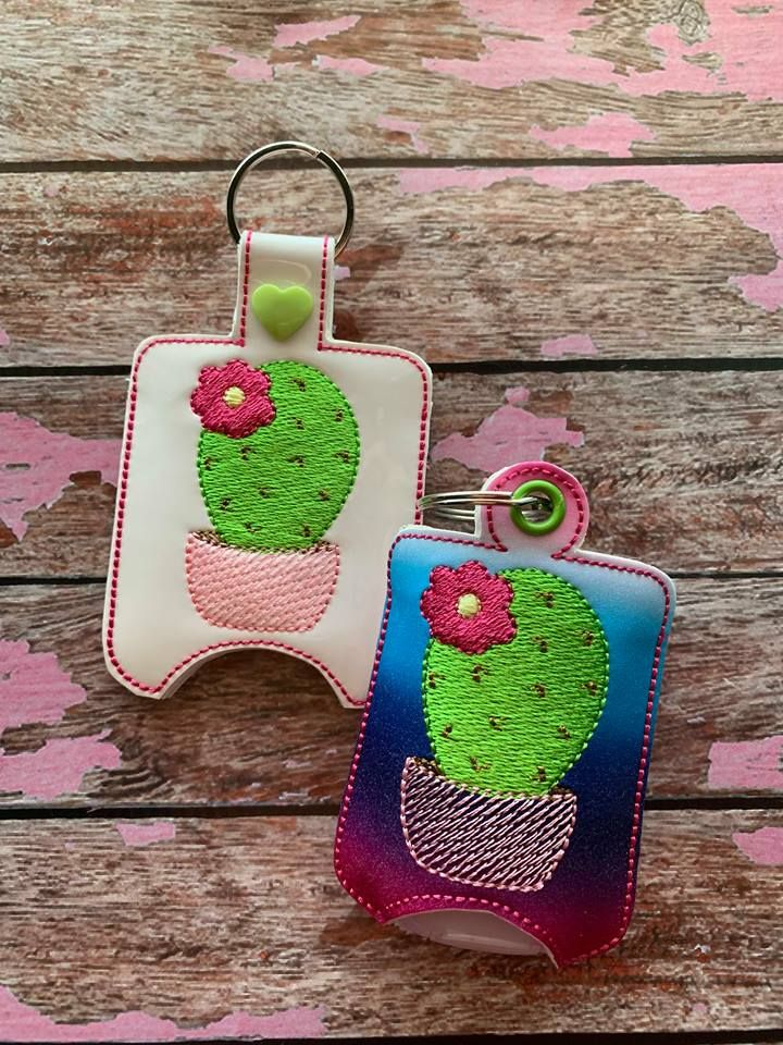 Ith Cactus Sanitizer Holders 4x4 And 5x7 Included Embroidery