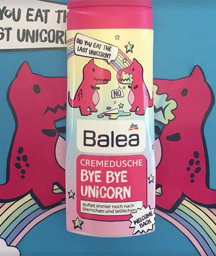 Bye-bye Unicorn: Balea bringt das Anti-Einhorn-Duschgel heraus