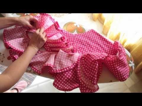 Tutorial - Traje de gitana al estilo Marisol 5/5 - Volantes - YouTube