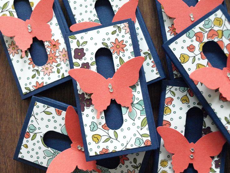 Stampin'Up Gastgeschenk Wortfenster Papillon Schmetterling Goodie