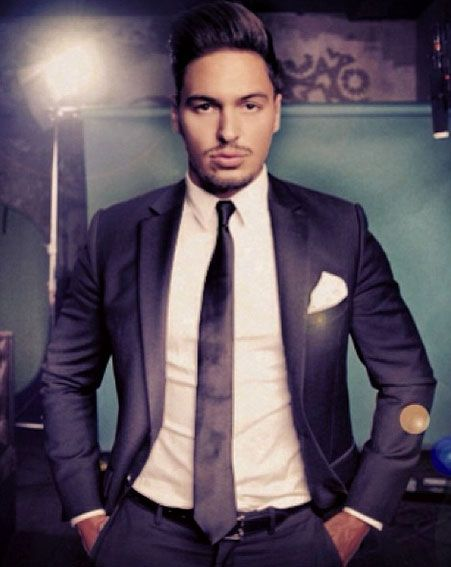 Mario Falcone got suited and booted ahead of the new TOWIE series [Instagram]