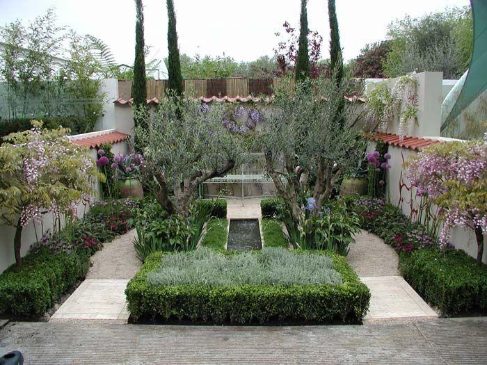 Mediterranean Style Courtyard Garden With: 88 Best Images About Mediterranean Gardens On Pinterest