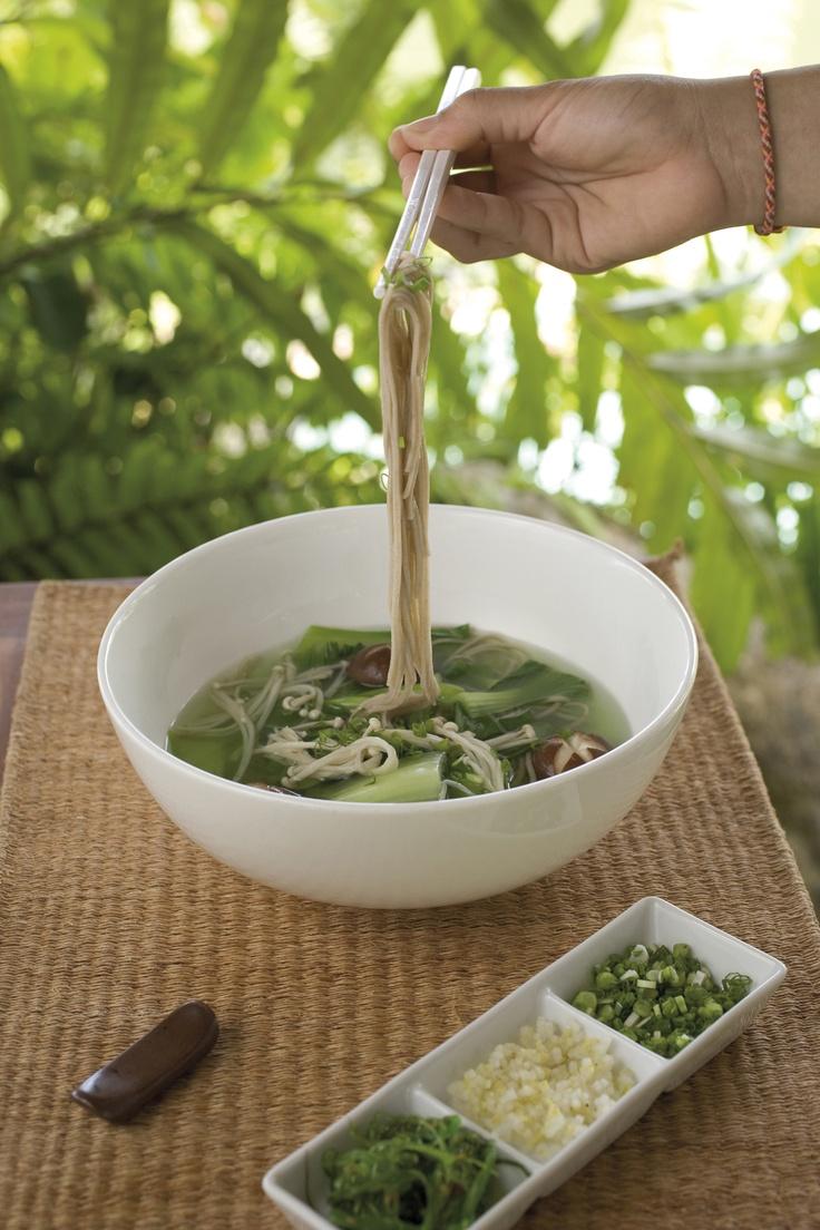 Buckwheat Soba Noodle Soup
