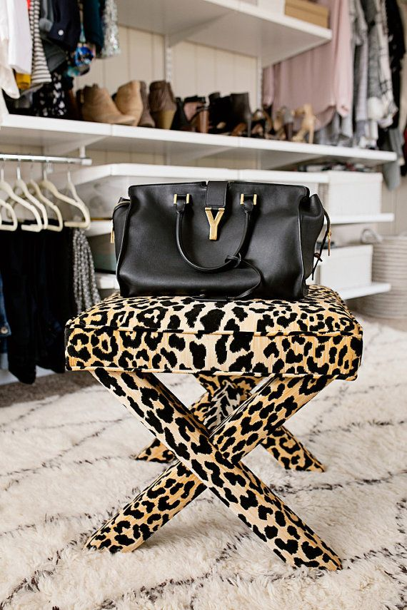 Leopard X Benches PAIR by livenUPdesign on Etsy