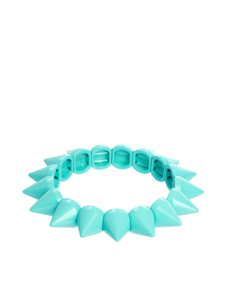 turquoise spike bracelet from asos