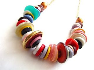 Button necklace !    Cheap, easy, and fun while practicing sorting, patterns, fine motor skills ;)