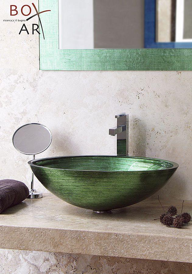 Boxart - Arredi ed accessori per il #bagno  Arreda con un tocco di colore - www.gasparinionline.it #sink #basin #lavandino #home #design #ideas
