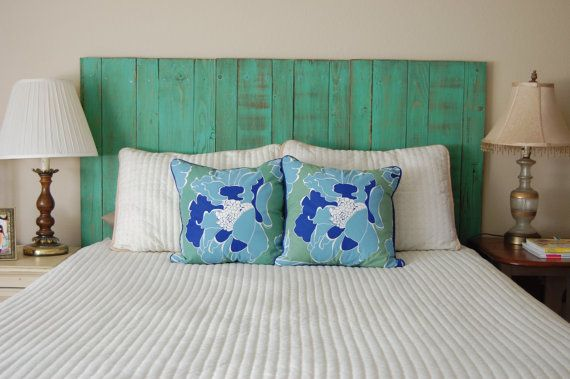 Hanger * King / Cal King Headboard - Mint Color. hate everything except the headboard  made by Barn Walls