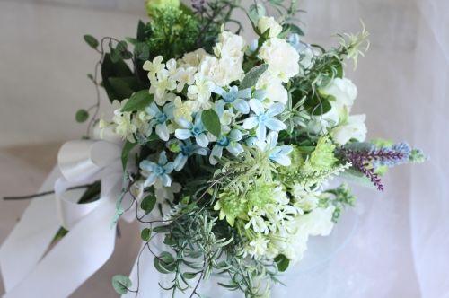 写真 > アーティフィシャルフラワー(造花)ブーケ16000~25000 - hanadeliv wedding