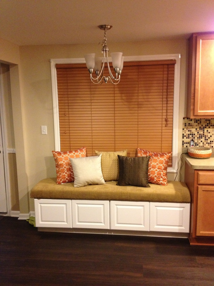 Kitchen built in nook seating using Home Depot stock