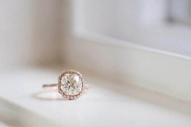 rose quartz engagement ring - Google Search