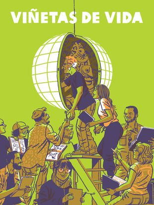 """""""Viñetas de Vida"""" Un total de 10 creadores se embarcaron de la mano de Oxfam Intermón y la campaña """"Sí Me Importa"""" en un viaje con rumbo a Latinoamérica, África y Asia. Este grupo creativo hizo las maletas para conocer de cerca las historias de vida de personas que, con el apoyo de la cooperación española, luchan por cambiar sus vidas y las de sus comunidades. Historias que fueron llenando sus cuadernos de viaje con rostros, nombres y relatos tan reales como emocionantes..... Signatura: C…"""