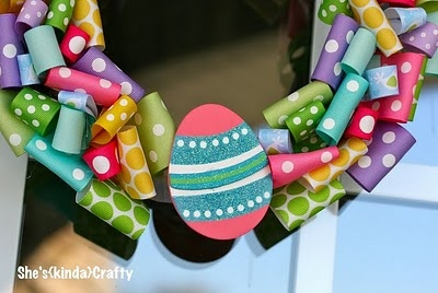 Ribbon wreath: A Doors Wreaths, Diy'S Easter, Ribbons Wreaths, Diy'S Crafts, Adoor Wreaths, Easter Wreaths, Crafts Idea, Easter Party, Easter Ribbons