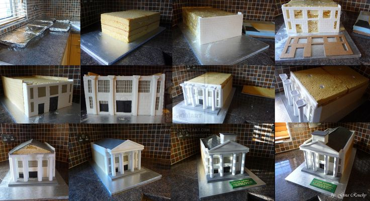how to make a house cake 3d - Google Search