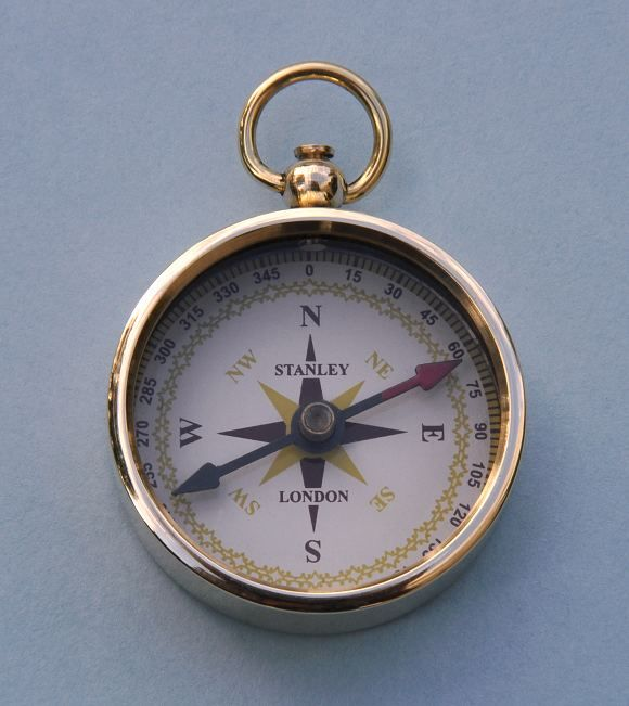 Solid brass Airborne Paratrooper Open Faced Pocket Compass