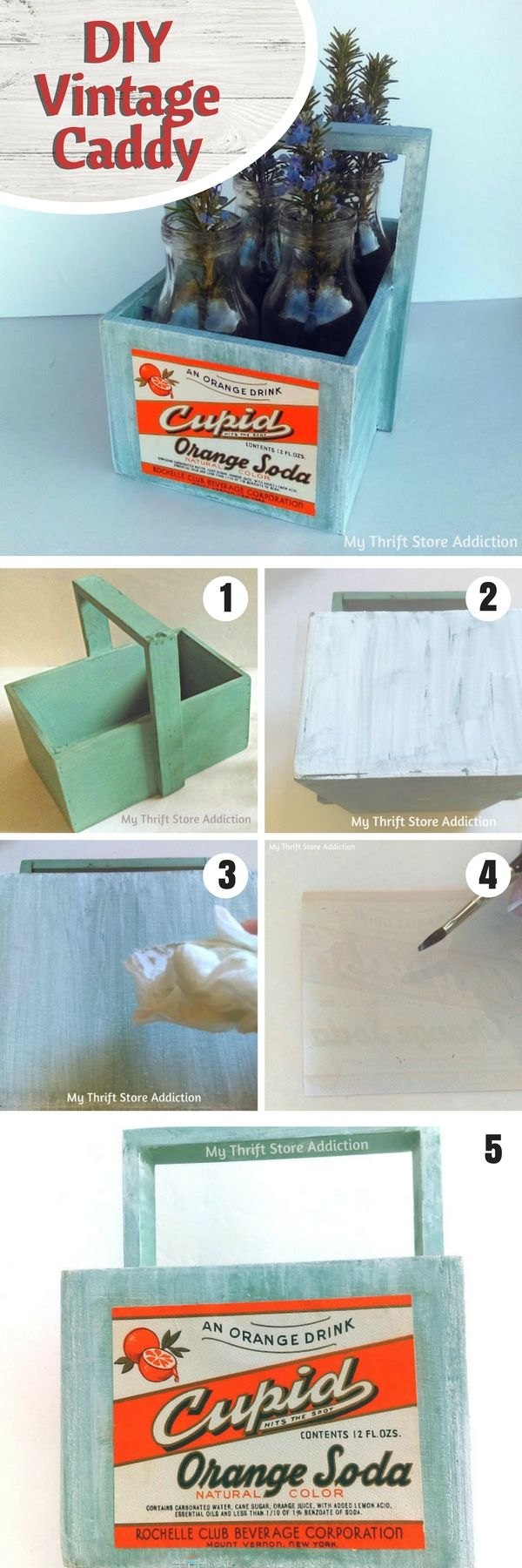 Check out how to make a vintage DIY caddy @istandarddesign