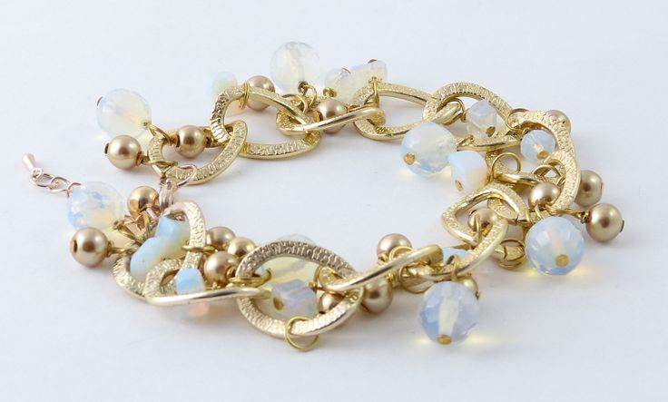 light chain with opal stones