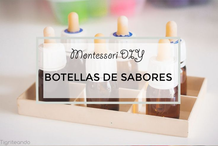 Botellas de sabores Montessori DIY