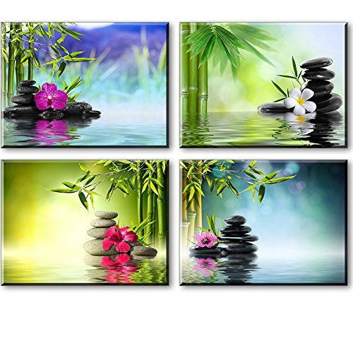 Artisweet Canvas Prints Picture Framed Waterproof Spa Stones Home Decor Canvas Art  High definition picture photo prints on canvas with vivid color on thick high quality canvas to create the look and feel of the original nature and masterpiece.  The canvas print is already perfectly stretched on wooden frame with hooks mounted on each panel for easy hanging out of box. Canvas Wall Art and Canvas paintings are the modern way to brighten the walls of your home, and relax you after work..