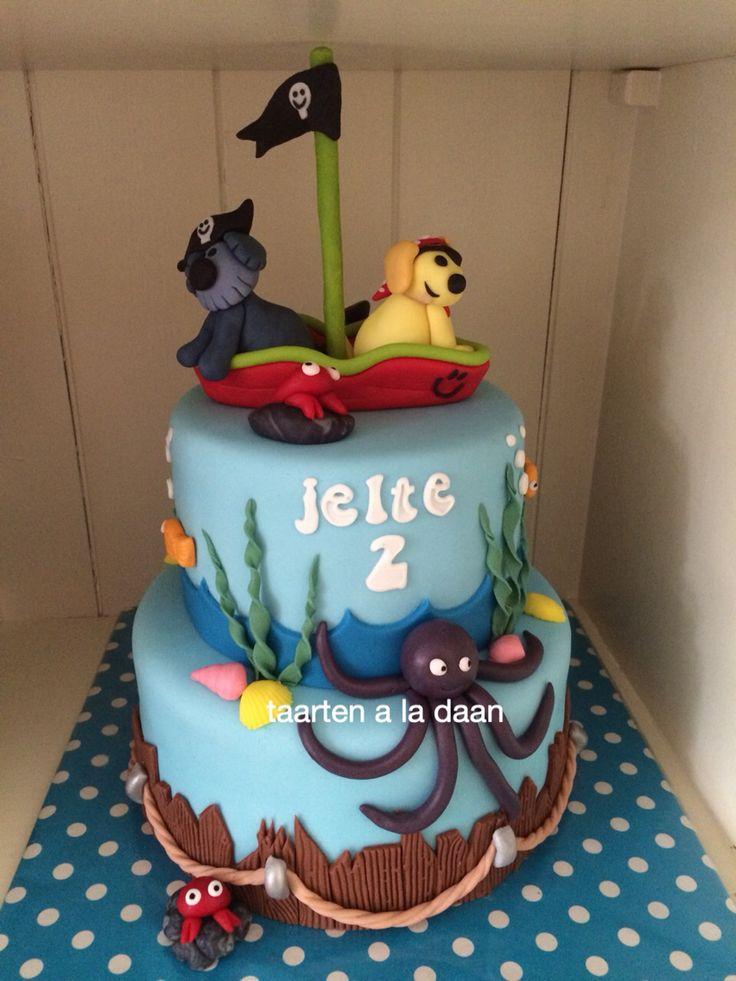 Woezel en pip piraten taart Woezel en pip cake