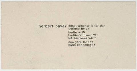 MoMA | The Collection | Herbert Bayer. Herbert Bayer, Künstlerischer Leiter der Dorland GmbH. c. 1928