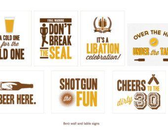 30th Birthday Beer Tasting Party Printables by JacksMaster on Etsy