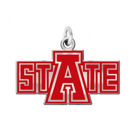 Arkansas State Red Wolves Color Logo Charm