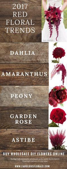 2017 red wedding flower trends!